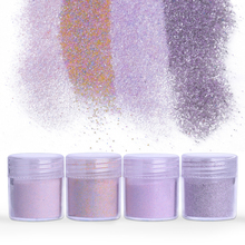 Purple Pink Series Nail Glitter Powder Mineral Sandy Dust Nail Pigments Matte Light Color Nail Art Decorations