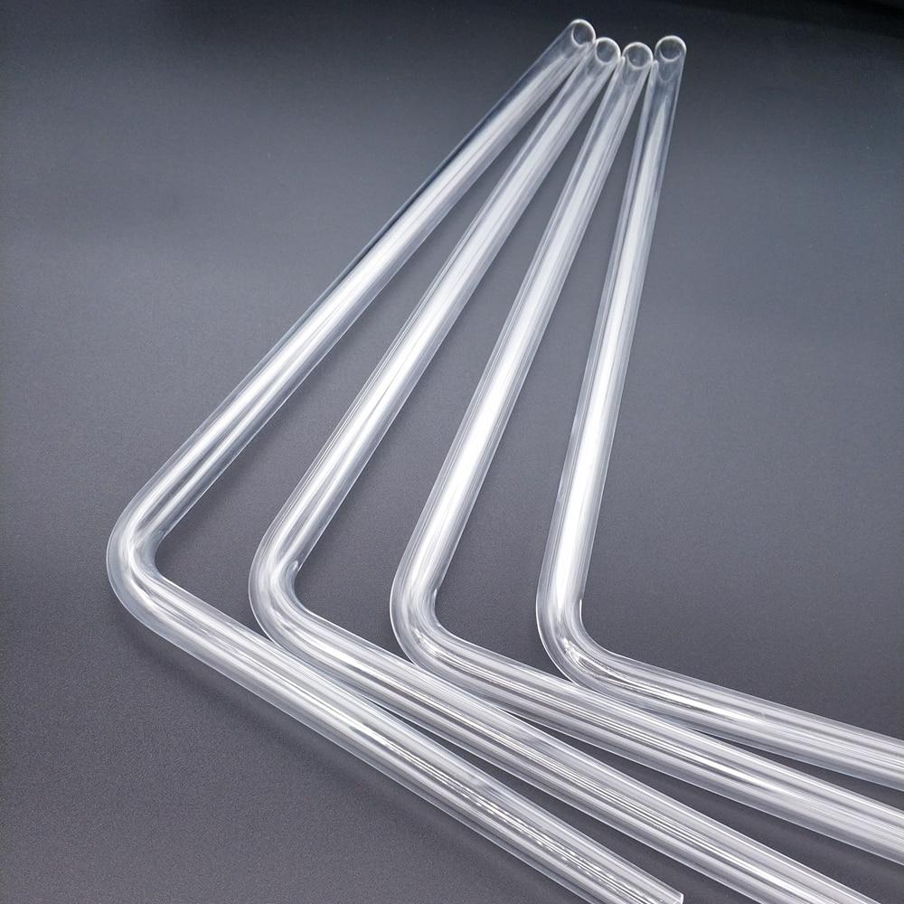 """רשימת הקטגוריות Tube בארתי PMMA / PETG הקשיח (OD12mm / OD14mm / OD16mm) + 2 מ""""מ עובי + 90 מעלות כיפוף צינור שקוף 4pcs / לוט (2)"""