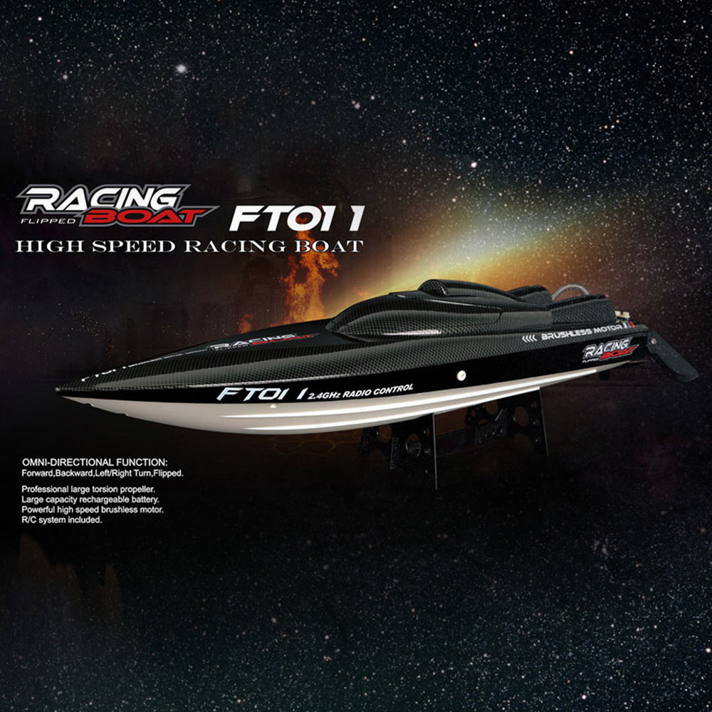 New Fei Lun FT011 2.4G Racing RC Boat High Speed Brushless Motor Water Cooling System 4Channels Speedboat Christmas Gift