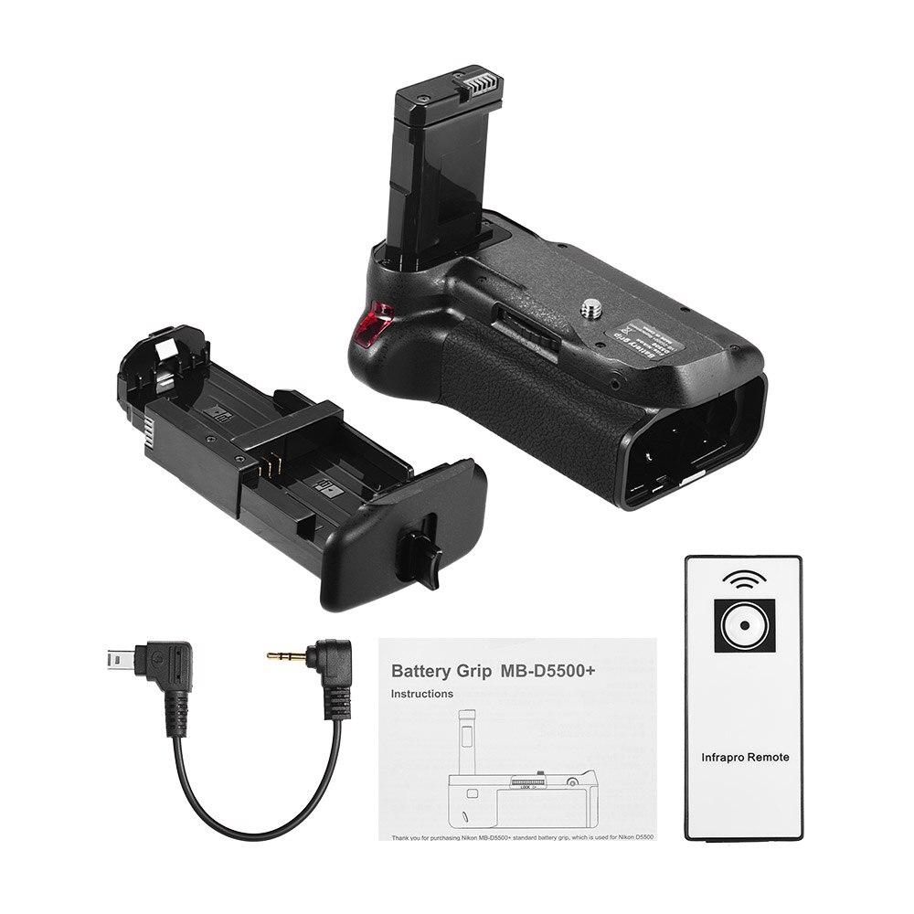 DSTE Replacement for Pro IR Remote MB-D5500 Vertical Battery Grip Compatible Nikon D5500 D5600 SLR Digital Camera as EN-EL14