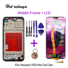 Get more info on the For Huawei P20 Lite/nove 3e LCD Display Touch Screen Digitizer Assembly + Front Bezel Middle Frame Repair Parts