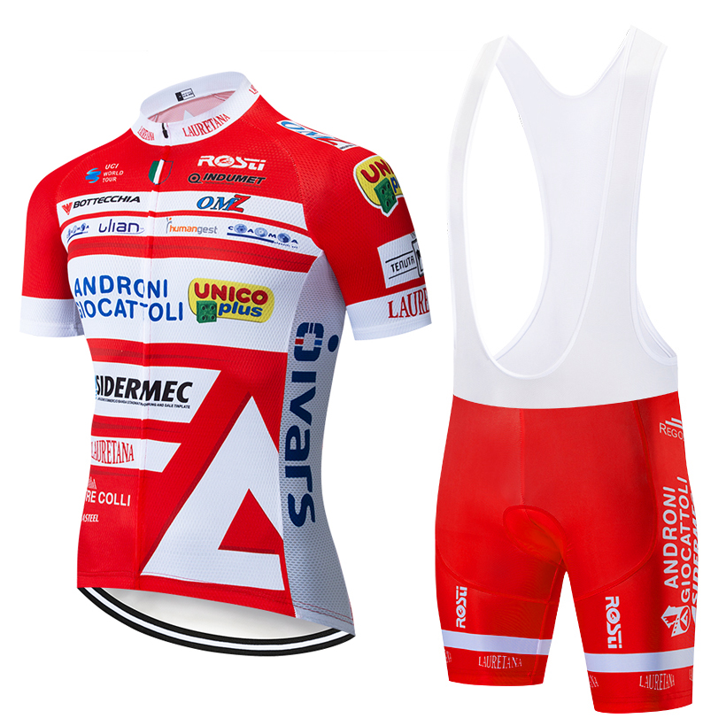 2019 NEW ANDRONI Pro Cycling Clothing Bike jersey Quick Dry Bicycle clothes mens summer team Cycling Jerseys 20D bike shorts set