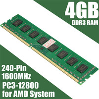 DDR3 4GB Memory RAM 1600MHz PC3 12800 In Memory 240pin 1 5V Desktop PC DIMM Compatible