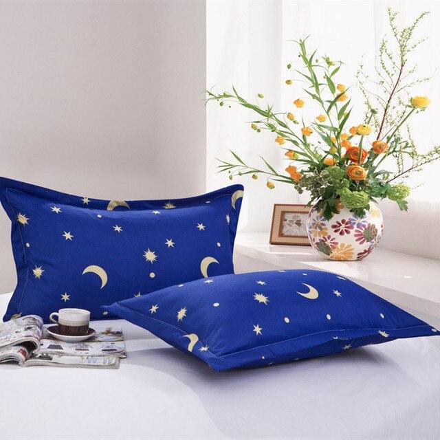 1 pezzo di Luna Stelle Coperture per Cuscini Copertura di Colore Blu Federa Uso