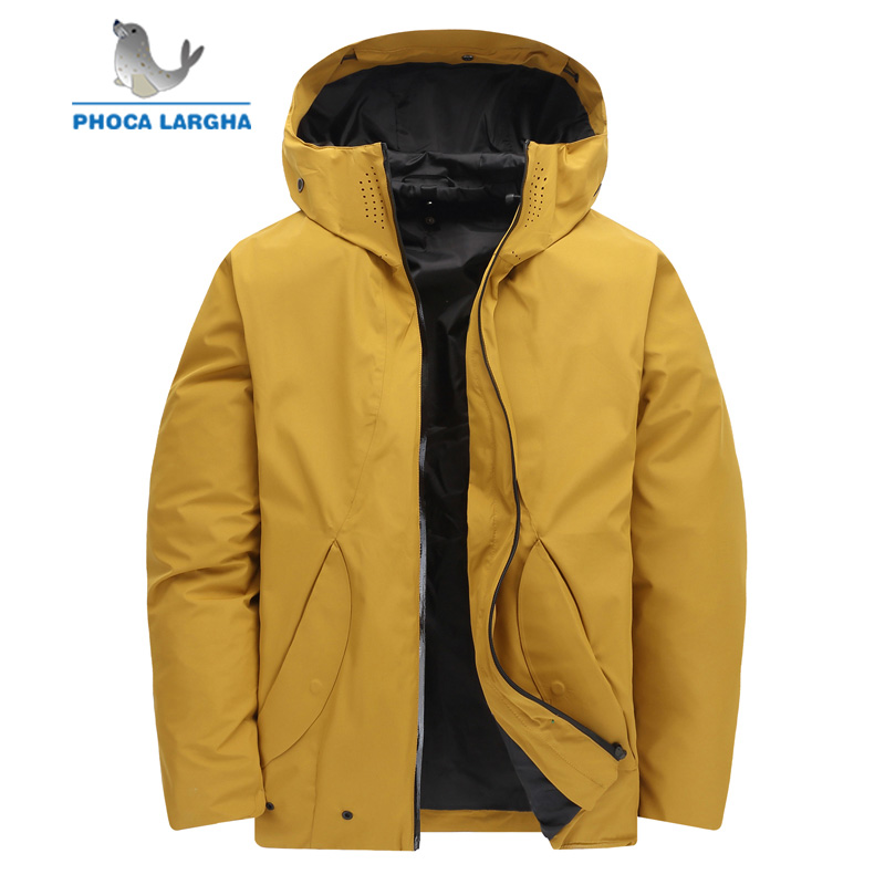Men's Winter Duck Down Jackets New Thick Warmed Windproof Down Parkas Mens Casual Outerwear Ultralight Feather Jacket Male