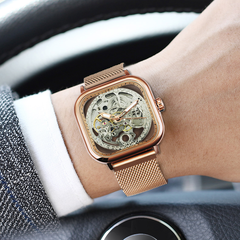 HTB1VPjsbUGF3KVjSZFvq6z nXXa3 FORSINING Top Brand Luxury Unisex Watch Men Auto Mechanical Hollow Dial Magnet Strap Fashion Royal Wristwatch HIP HOP Male Clock