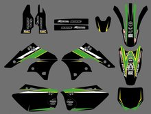 0234 Power New Style TEAM GRAPHICS&BACKGROUNDS DECALS STICKERS Kits for  KX250F KXF250 2006 2007 2008