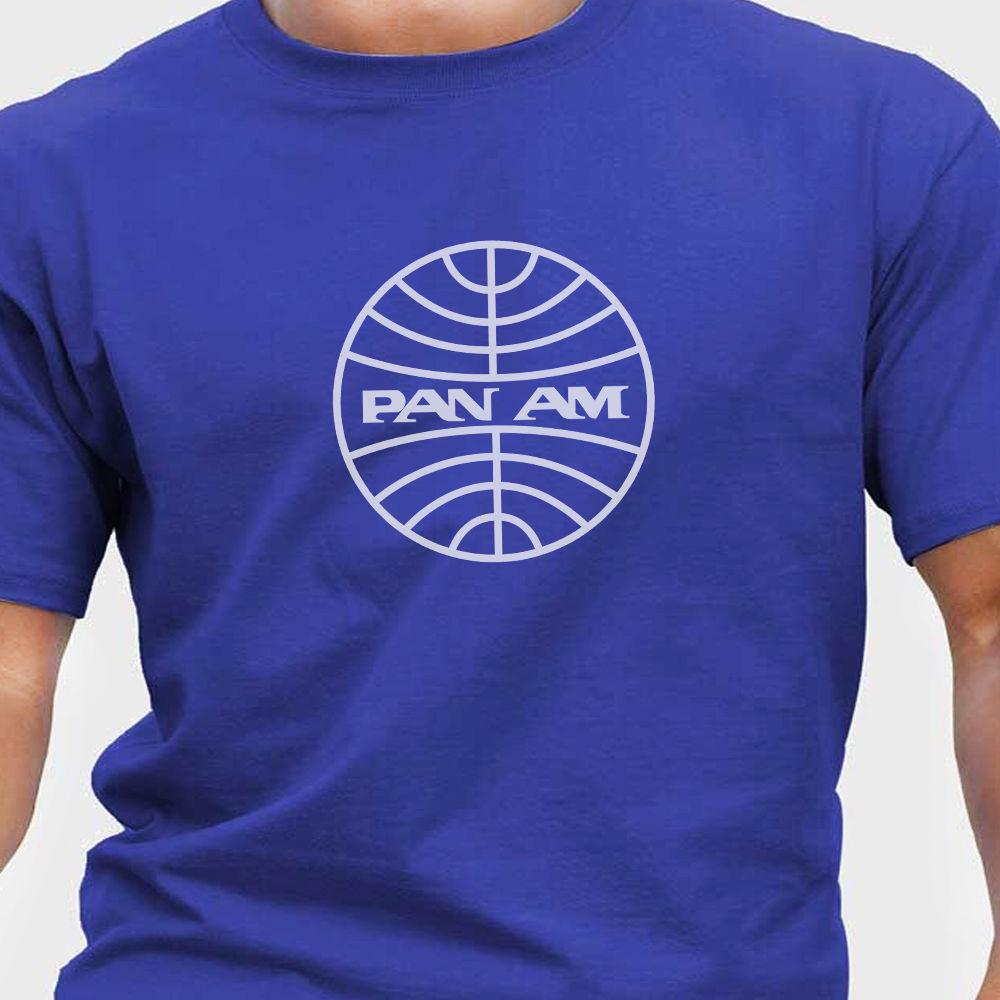 2018 Hot Sale 100% Aeroclassic Retro Pan Am T-Shirt Summer Style Tee Shirt