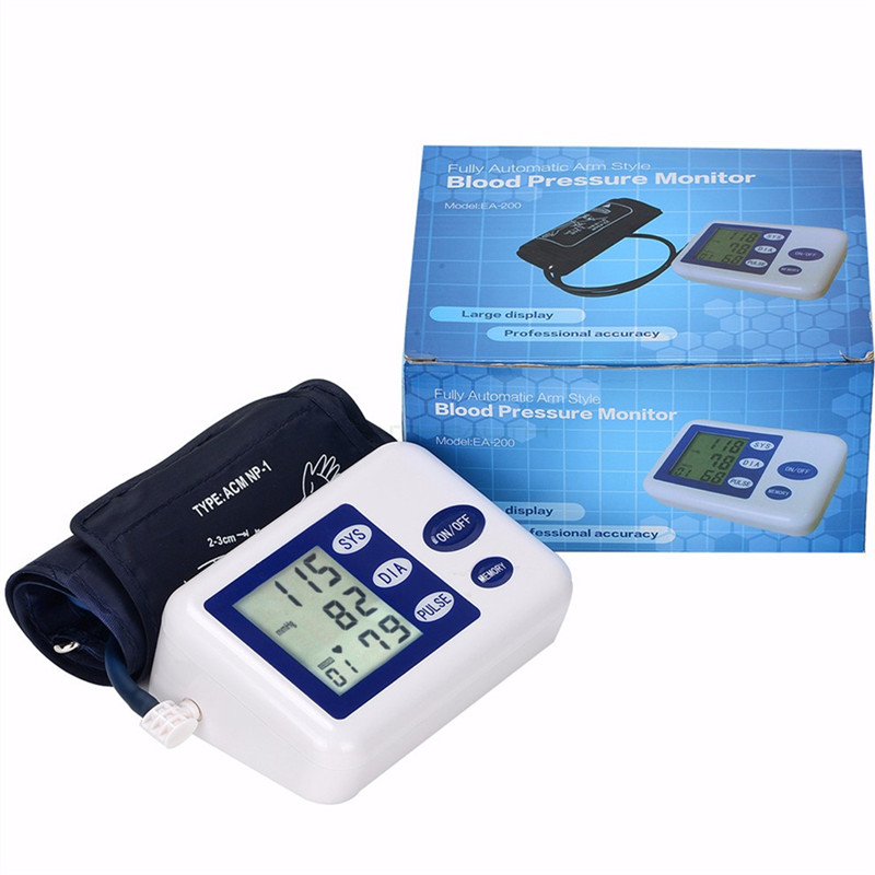 Portable Blood Pressure Monitor Health Care Pulse Meter Automatic Digital Sphygmomanometer Household Tonometer Medical Shipping 9