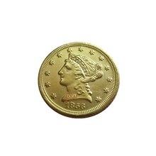 Дата 1856-S 1857 1857-D 1857-O 1857-S 1858 1858-O 1859 США$2,5 позолоченный(старинная Золотая монета в 2,5 доллара) золотые в виде копия монет