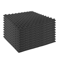 10pcs Egg Crate Acoustic Foam Panels Studio Soundproof Pads 50 X 50 X 2cm Soundproof Foam Pad with Good Resilience