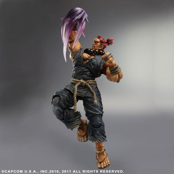 Play Arts Street Fighter Action Figures PA Gouki Akuma Doll Toys 22cm With Retail Box