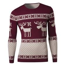Mode Für Männer Pullover Vintage Britischen Stil Jacquard Oansatz langhülse Gestrickten pullover männlichen dünnen rehe pullover sweater68031