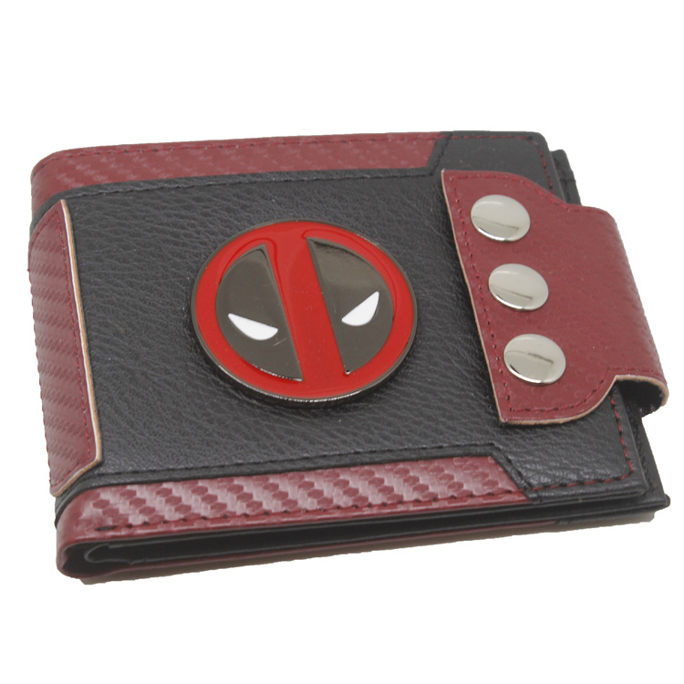 Deadpool Coin Leather Wallet Purse Bi-Fold Gift NEW
