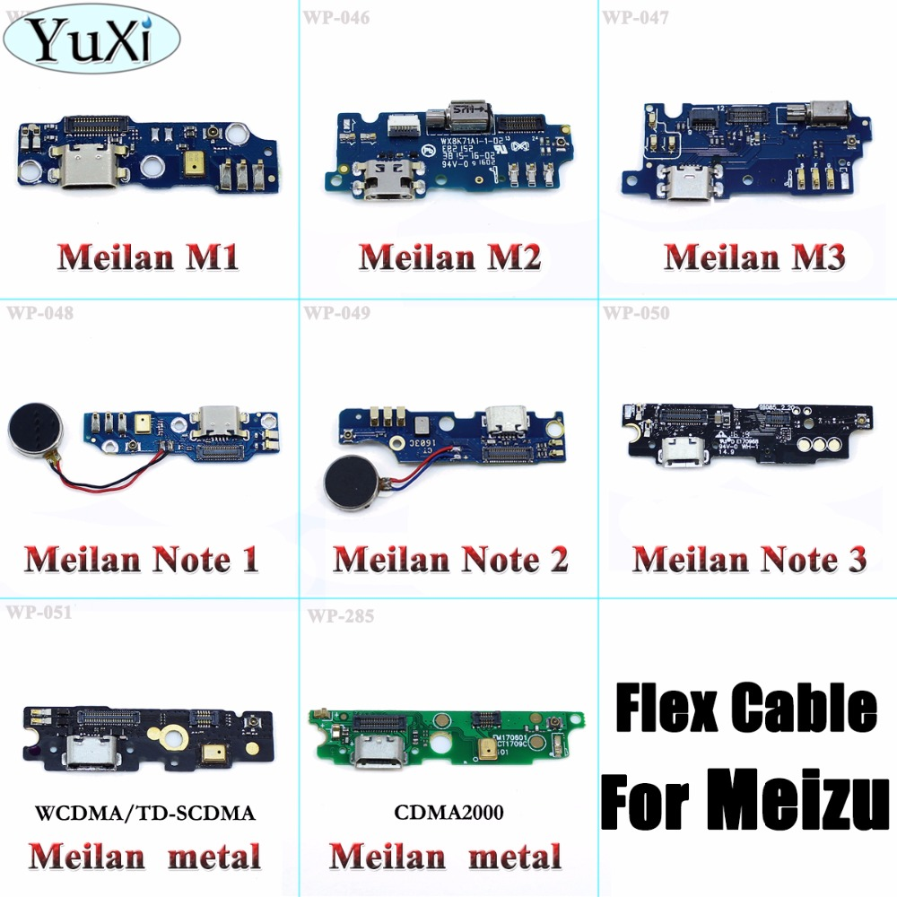 YuXi Dock Connector Micro USB Charger Charging Port Flex Cable Repair Parts For MEIZU M1 M2 M3 Note M1 M2 M3 Metal Note 1 Note 2