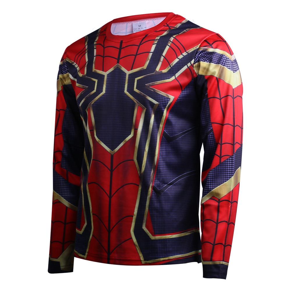 2018 Avengers Infinity War Spidermam T-Shirts Cosplay Costume Spiderman Superhero 3D Sports T-Shirt 2 Halloween Party (4)
