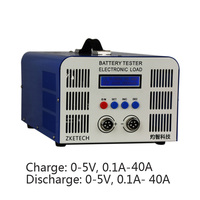 Large Current Lithium Battery Charge&Dischage Capacity Tester 5V 40A 40A Fe Battery Cyclic Tester Online Software EBC A40L
