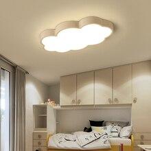 Beyaz/pembe/mavi bulut LED tavan ışıkları çocuk odası çocuk odası ev Deco tavan lambası çocuk kız odası aydınlatma armatürleri