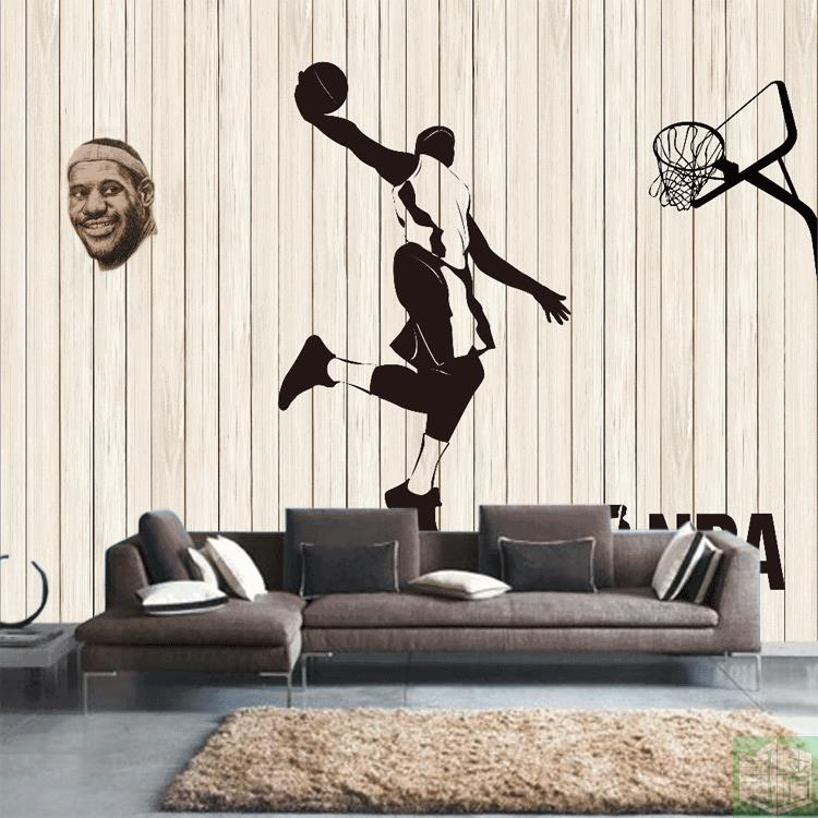 Online get cheap basketball wallpapers for Basketball mural wallpaper