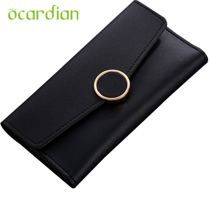 Wallet Top Quality New Arrivals Women Simple Long Hasp Coin Purse Card Holders Handbag Fashion Drop shipping Carteira 17Apr27 new damascus pocket folding knife red sandalwood or abalone shell handle camping hunting survival utility knives leather holder