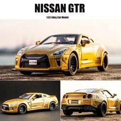 Новинка 1:32 NISSAN GTR гоночная модель автомобиля из сплава литые под давлением и игрушечные транспортные средства игрушечные машинки Бесплатна...