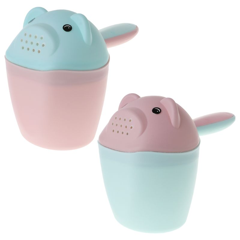 Baby Shower Cup Bear Cute Bath Shampoo Spoon Bathroom Bathtub Newborn Kids Head Hair Washing Spoons Water Cups Toilet Bowl Toys