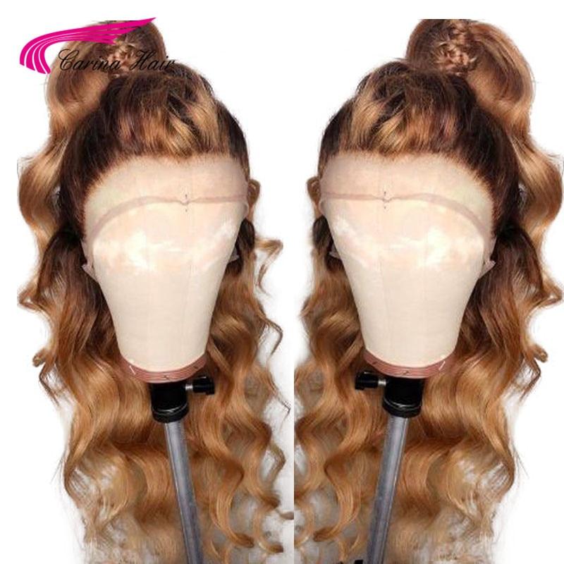카리나 긴 허니 금발 브라질 레미 곱슬 전체 인간의 - 인간의 머리카락 (검은 색) - 사진 3