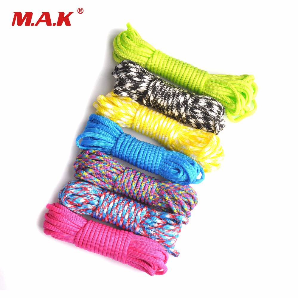 100FT 550 Paracord Rope Camping Paracord Lanyard Accessories Parachute Deg For Camping Equipment & Survival 100ft 550lb nylon paracord parachute cord string rope for camping hiking survival