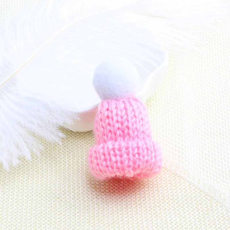 1 Pcs Mini Warna-warni Wol Rajutan Hairband Topi Bros Pin untuk Wanita Sweter Kemeja Kerah Jaket Lencana Lucu Pin Fashion perhiasan