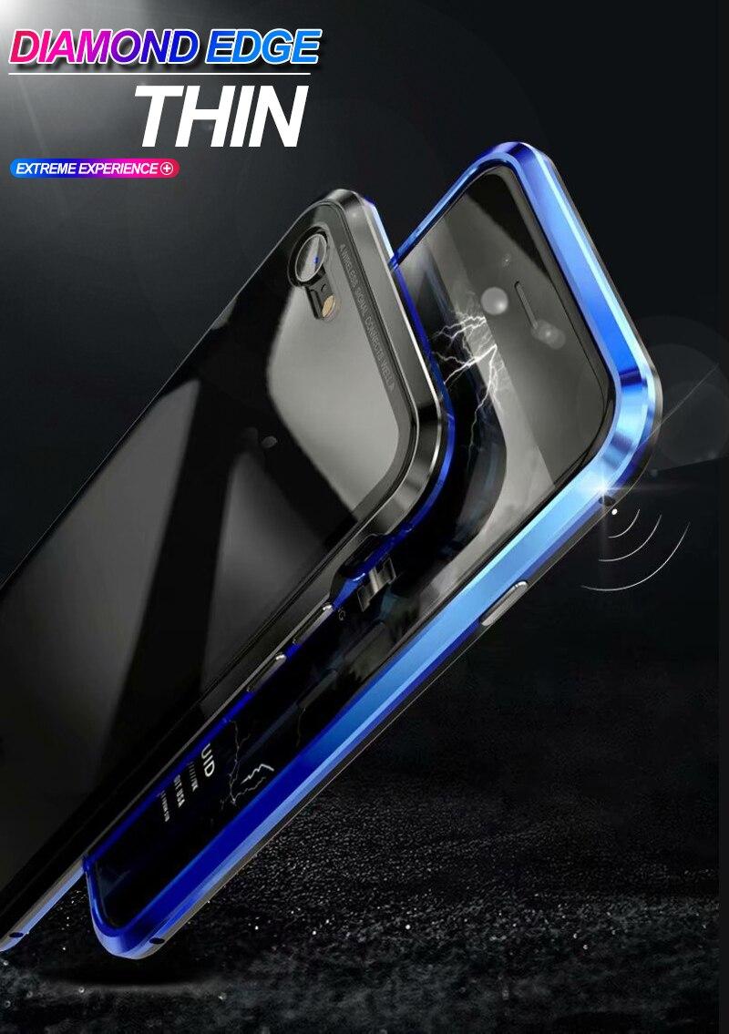 Magnetic Case for iPhone X 8 Plus 7 6 6s Plus