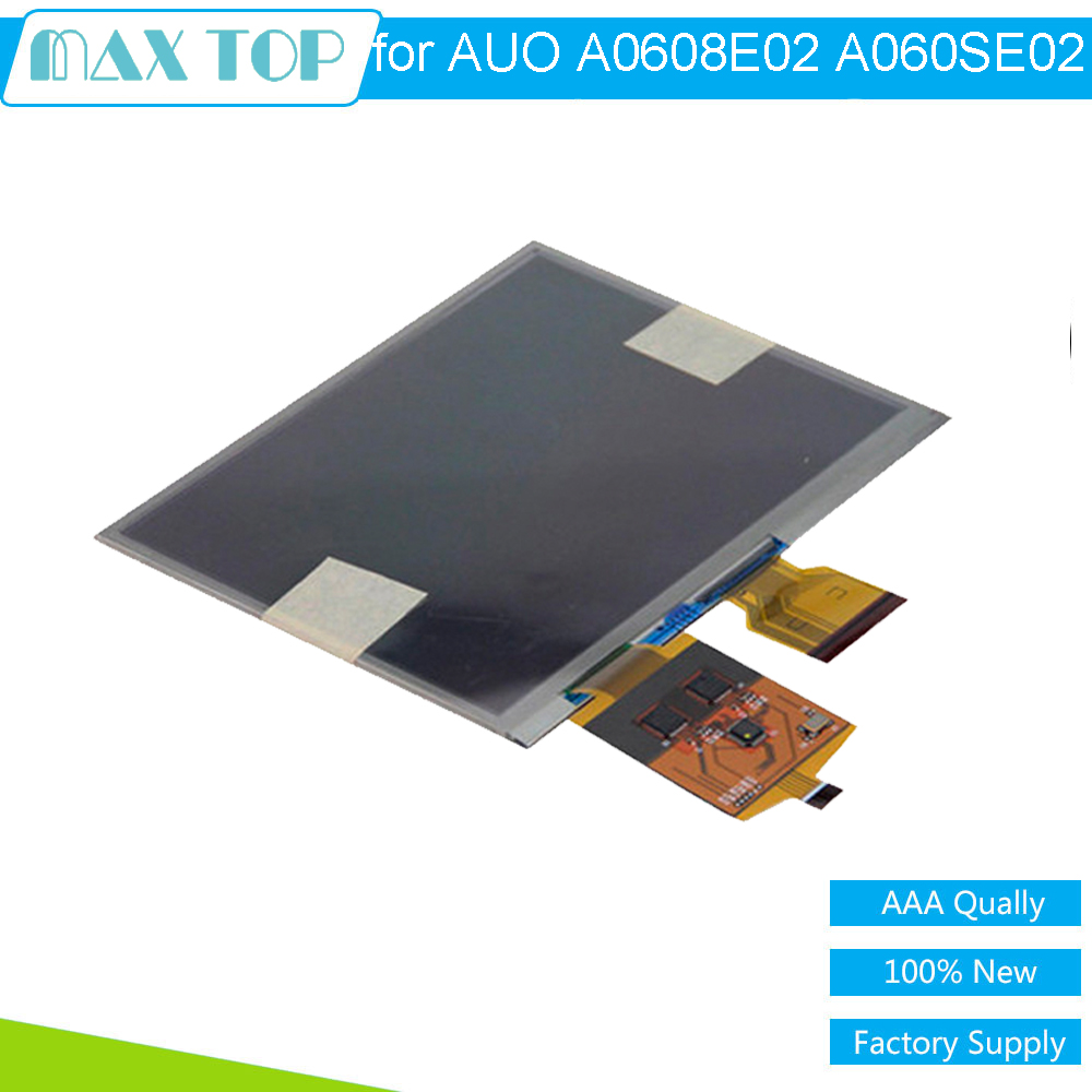 6.0'' INCH 100% Tested New Original For AUO A0608E02 A060SE02 E-ink LCD Display Screen With Touch Screen Digitizer Repartment new and original auo 11306 auo11306 auo bga 64 goods in stock