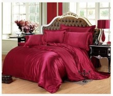 Silk bedding set Wine red california king size queen full twin fitted satin sheets duvet cover bed in a bag bedspread doona 6pcs dark blue bedding set silk satin california king size queen fitted bed sheets quilt duvet cover double bedspread doona 4pcs 6pcs