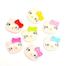 LF 50Pcs Resin Cats 18x20mm Decoration Crafts Flatback Cabochon Embellishments For Scrapbooking Kawaii Cute Diy Accessories(China)