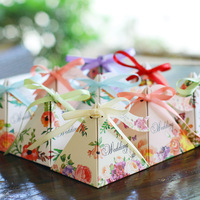 New 50Pcs Candy Box Paper Boxes Candy Bag For Baby Shower Birthday New Year Gifts Boxes