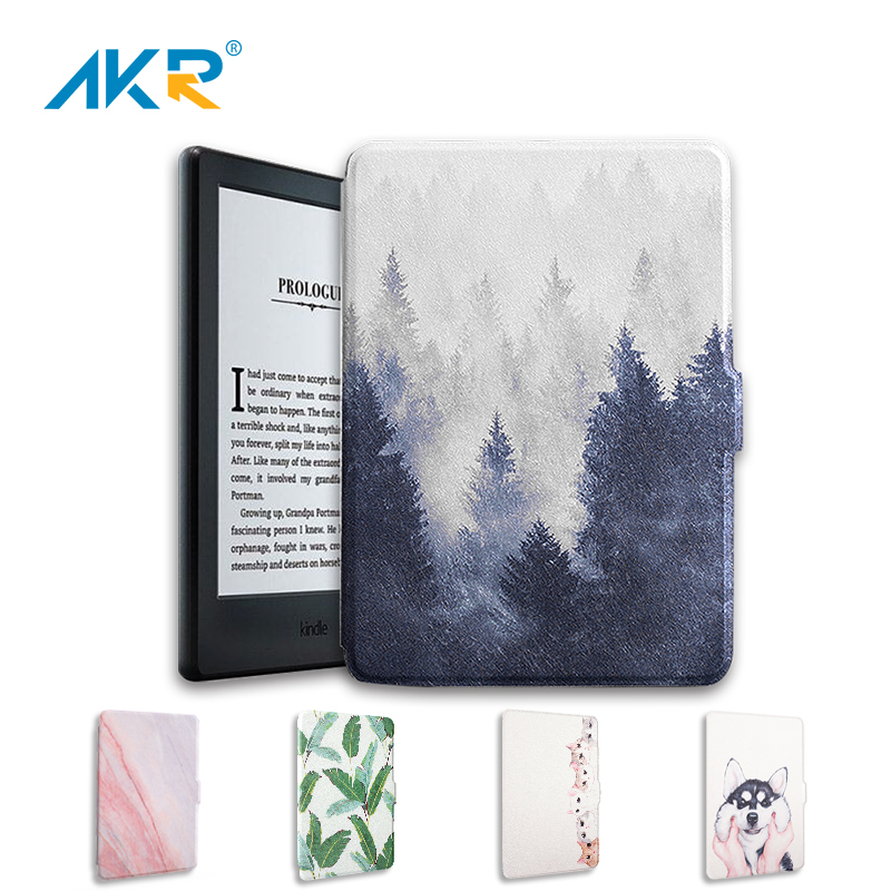 New For Kindle Paperwhite Case PU Leather Smart Cover <font><b>Fit</b></font> For <font><b>Amazon</b></font> Kindle Paperwhite 2 3 Auto Wake Up/Sleep Function Shell image