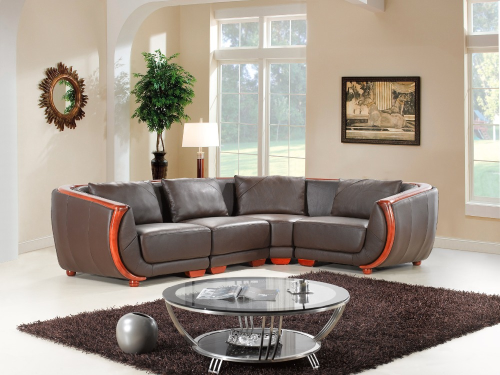 Buy cow genuine leather sofa set living for Best living room furniture