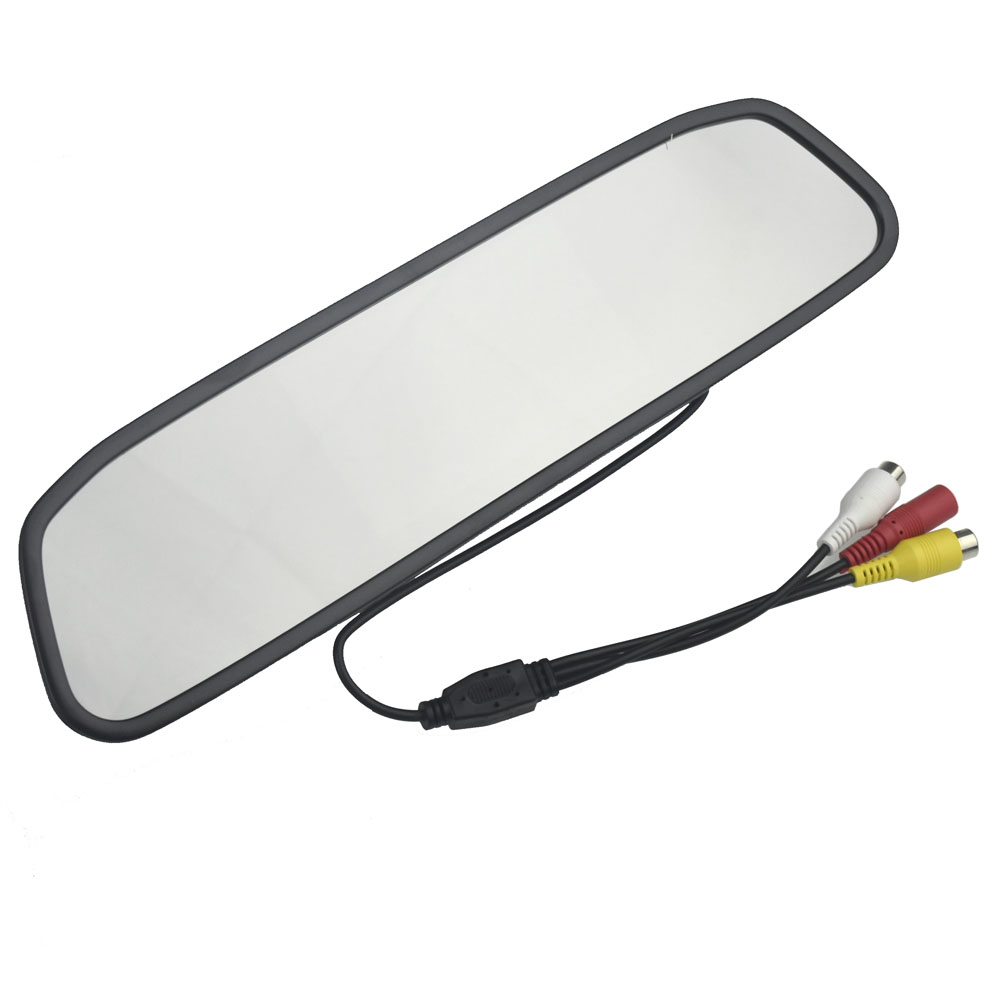 5 TFT LCD Auto Parking Rear View 5 Inch Car Mirror Monitor With 2 Video input For Rear View Camera Parking