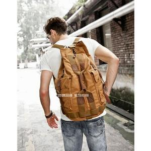 Image 3 - באיכות גבוהה גברים תרמיל רוכסן מוצק גברים של נסיעות BagsBackpacks בד תיק המוצ ילה masculina bolsa בית ספר שקיות