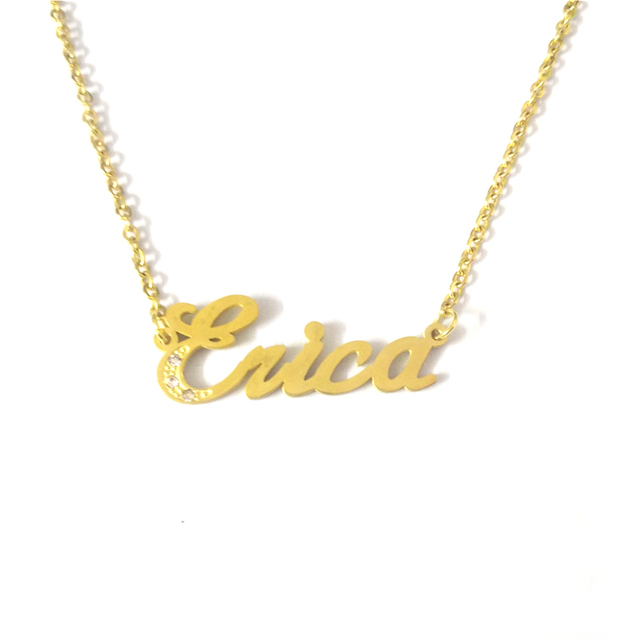e71aa8e43 FairLadyHood Erica Best Friends Personalized Name Necklace Couples Lovers Jewelry  Stainless Steel Colar Custom Family Choker