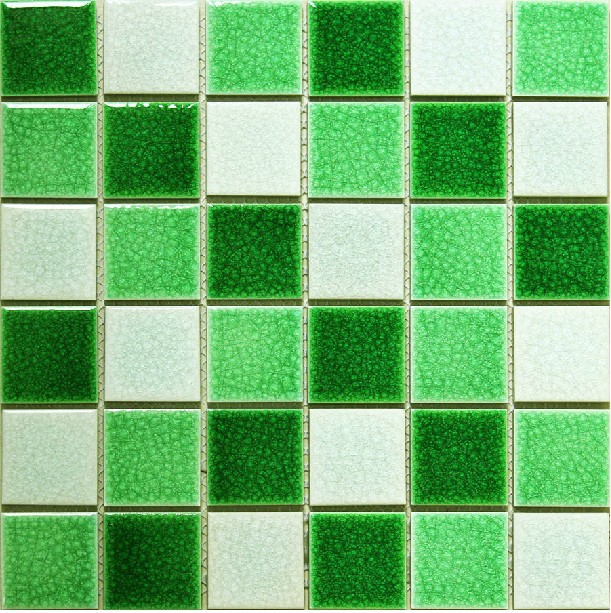 Mosaic Ceramic Green White Tile Bathroom Swimming Pool Tiles Backsplash  Mosaics Decor Mesh Kitchen Tile Crackle