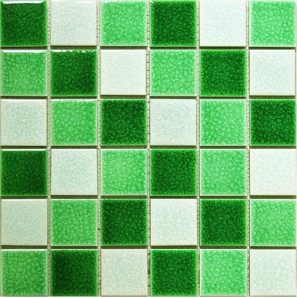 Mosaico de cer mica verde ba o de azulejos blancos piscina azulejos backsplash malla decoraci n - Azulejos mosaico bano ...