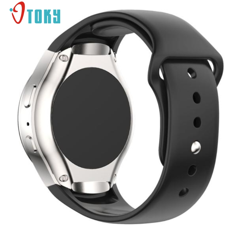 Excellent Quality Watchband Luxury Silicone Watch Band Strap For Samsung Galaxy Gear S2 SM-R720 Smart Watch Band Straps Dec-29