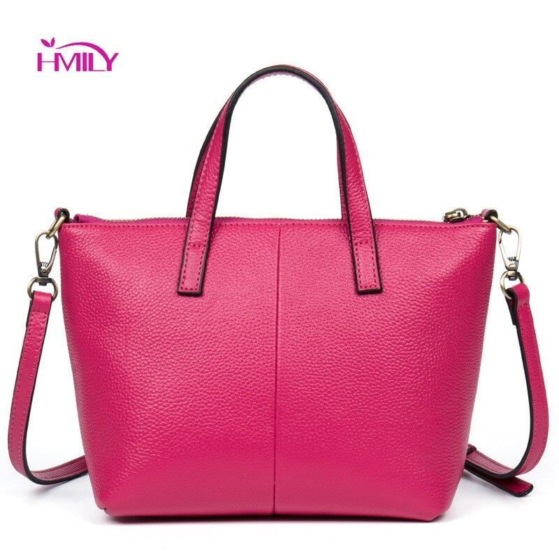 HMILY Women Handbag Genuine Leather Shoulder Bag Leisure Style Ladies Messenger Bag Women Bag Real Leather Bag