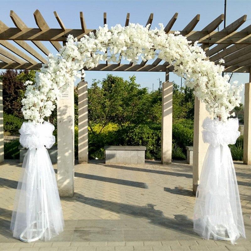 Высококлассная Свадебная Центральная металлическая Свадебная дверь арка гирлянда для развешивания стойка для цветов с цветками вишни для