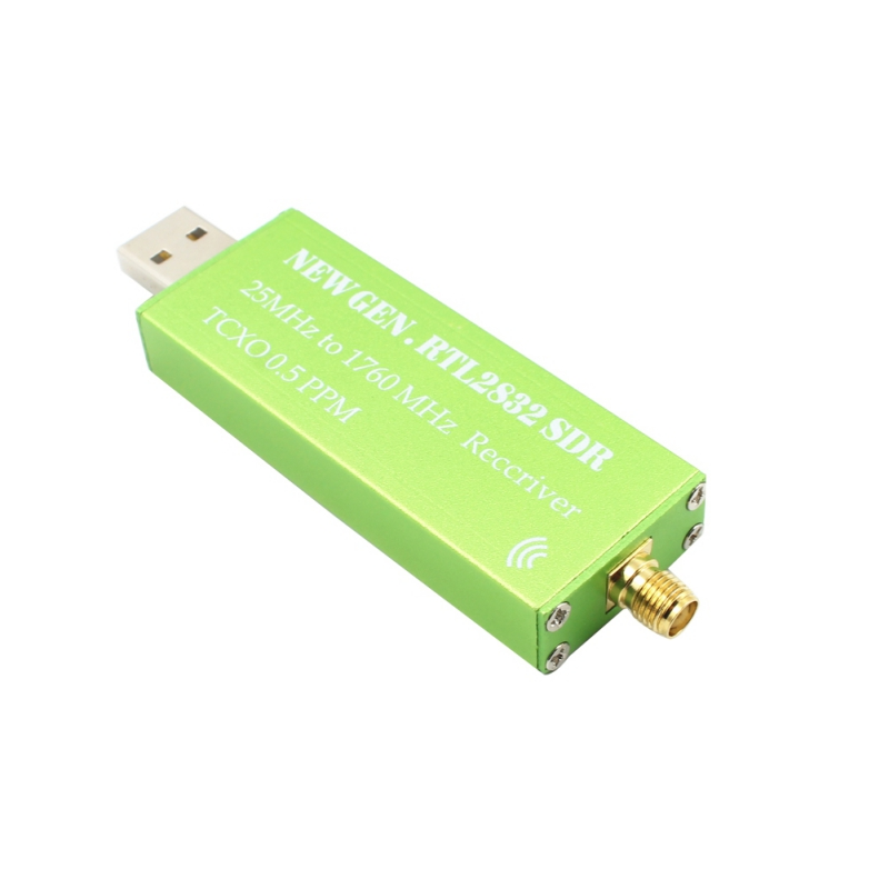 Premium USB RTL-SDR Radio Receiver RTL2832 ADC Chip 0.5 PPM TCXO, SMA F Connector SMA Antenna 100k 50mhz rtl sdr supporting long antenna 9 1 impedance transformer balun bnc