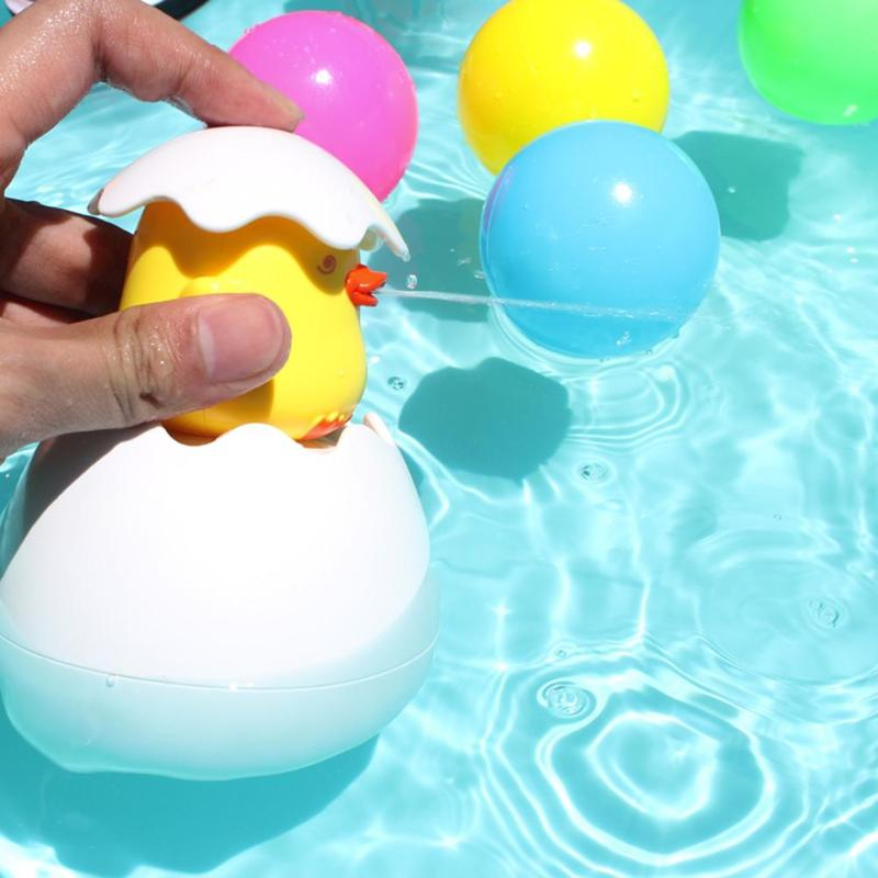 Baby Cute Duck Penguin Egg Bathing Toy Kids Water Spray Sprinkler Bathroom Sprinkling Shower Swimming Bath Water Toys Kids Gift