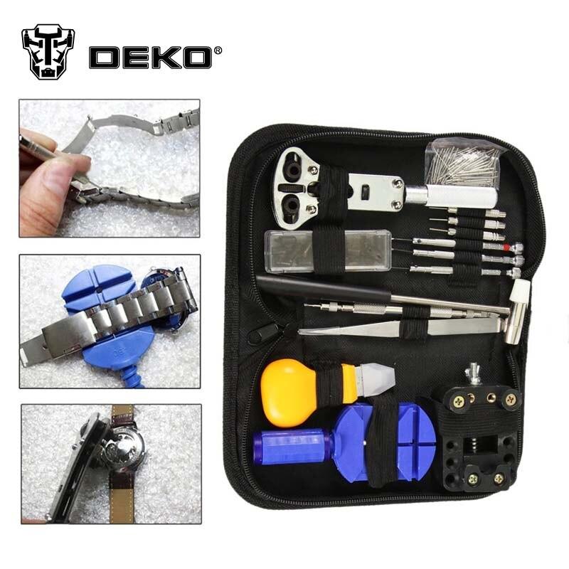 DEKOPRO 13pcs Watch Band Holder Back Case Wrench Opener Link Pin Remover Repair Tool Kit  цены