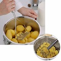 Stainless Steel Potato Masher Mashed Potato Mould Fruit Sweet Potato Masher Hot Mashed Potatoes Press device 99