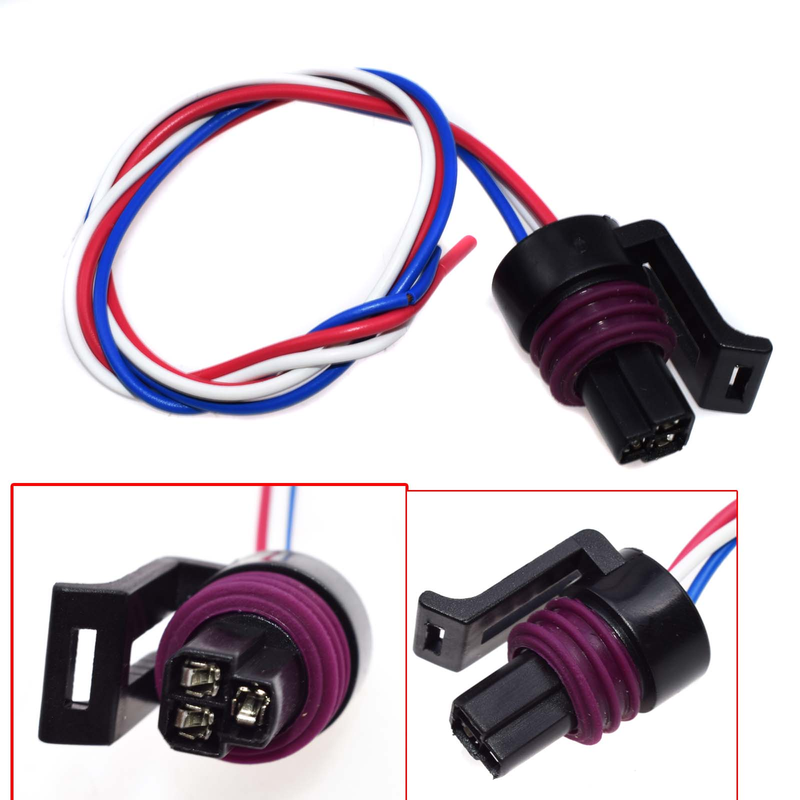 FUEL INJECTOR s824 HARNESS CONNECTOR PIGTAIL FITS JEEP DODGE FORD HYUNDAI MAZDA