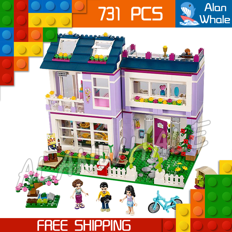 731pcs Friends Princess Series New Emma's House Model Building Kit Bricks Blocks Girls Children Gifts Toys Compatible With Lego shirly new rest stop dream house building blocks compatible with lego bricks girl s educational toys birthday christmas gifts